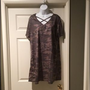 Dresses & Skirts - Cotton camo dress